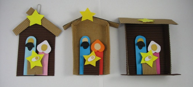 3 paper nativity ornament crafts for Nativity crafts to make