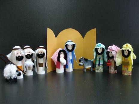 Christmas nativity crafts for children - Manualidades con rollos de papel higienico para navidad ...