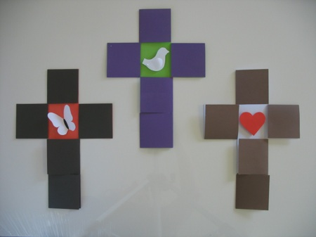 Cross resurrection craft for Cross craft for kids