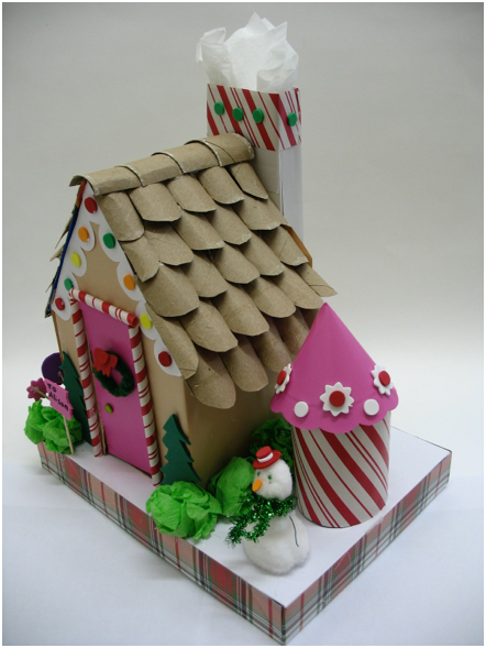 How To Make A Gingerbread House Out Of Cracker Boxes