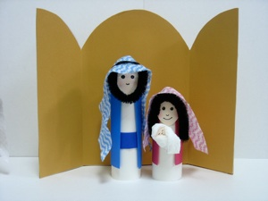How To Make A Stable For Nativity Sets Out Of Cardboard Boxes