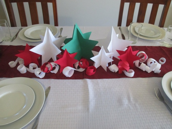 Christmas Tree Decorations Using Paper : Paper christmas tree using fans