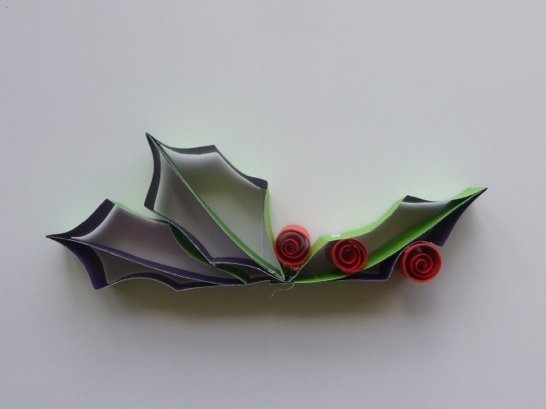 Paper Holly Leaf Christmas Ornament