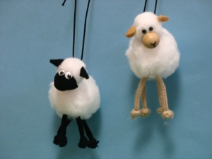 To Make Sheep Into Backpack Decorations Legs From Cording For Drawstrings And Tie Knots Feet Elastic Around The Fasten