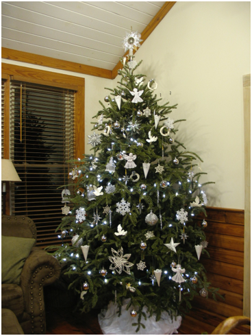 10 Foot White Christmas Tree