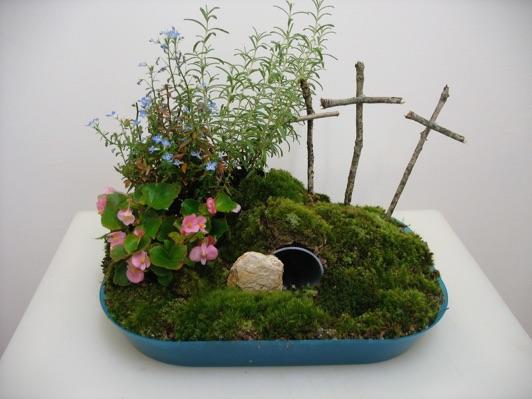 One bright corner purposeful easter for Easter garden designs