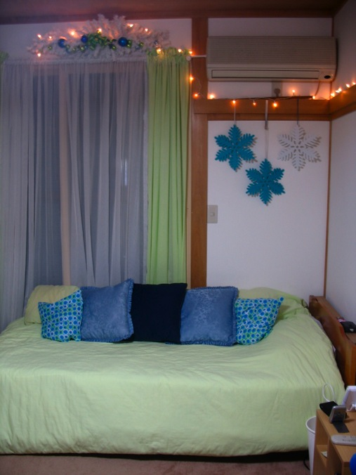 lime green and blue christmas decorating ideas for teen room - Lime Green And Blue Christmas Decorations