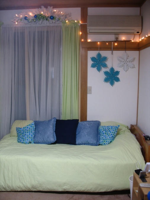 Lime Green And Blue Christmas Decorating Ideas For Teen Room