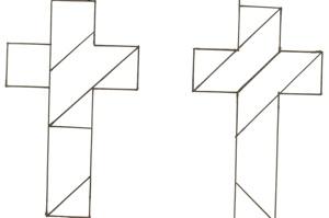 Tangram Cross Puzzle Craft