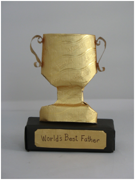 Seasons Fathers Day Ways To Celebrate Cards For Kids Make Trophy