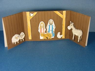 Ss Crf Chri Nati Card Tarjeta Pesebre De Navidad